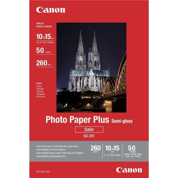 Бумага Canon 4″x6″ Photo Paper Plus Semi-gloss SG-201 50л.